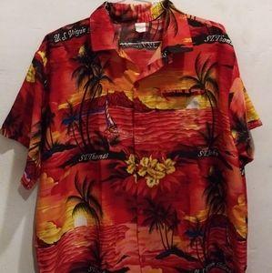Rina Mens Hawaiian Style Shirt